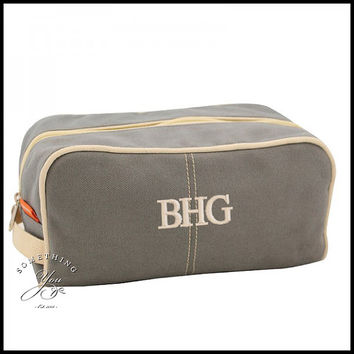Monogrammed Mens Dopp Kit - 4 COLORS - Personalized Shave Kits 19adf17602fb2
