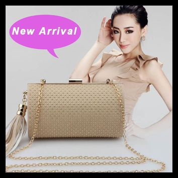2017 New Arrival Clutch Evening Bag Pu Rivet Casual Women Shoulder Handbag Messenger Crossbody Bags Minaudiere Totes Frame Bag
