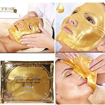 Crystal Gold Collagen Facial Face Mask Anti-Aging Moisturizing Skin Care [9325747076]