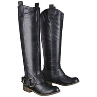 Women's Mossimo Supply Co. Kamari Tall Buckle Boots - Black