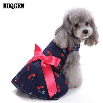 VONFC9 dog clothes for small dogs summer dog spring girl clothes pet products 2017 dogs and cats dress roupa pet para gato