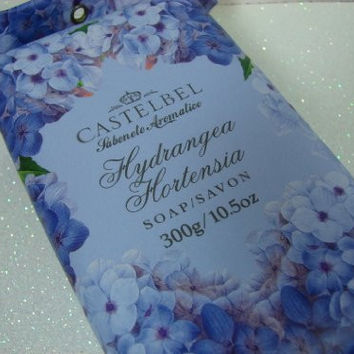 Castelbel Single Bar Soap Made in Portugal -HYDRANGEA HORTENSIA 10.5 oz Gift Wrapped Luxury bath soap