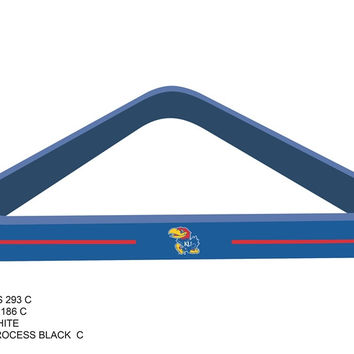 University of Kansas Billiard Ball Triangle Rack