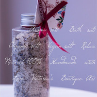 Aroma salt - Bath salt - Detox salt - European Sea salt - Gift - Organic - Vegan - SPA - Relaxation - Beauty - 100% Natural
