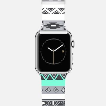 Turquoise Tiffany Blue Native Tribal Bohemian Hipster Pattern Apple Watch Band case by Rex Lambo | Casetify