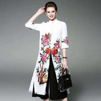 Dress Runway Floral Embroidery Style Ukraine Party Womens Beach Dresses