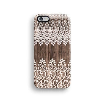 iPhone 6 case, matte iPhone 5s case, iPhone 5C case, iPhone 4s case with lace wood pattern, Christmas gift A679