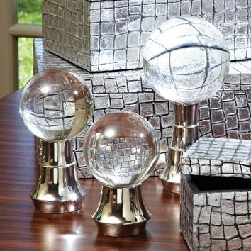 Nickel Ball Stands by Global Views - Opulentitems.com