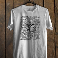 Fan Art Pierce The Veil Song Lyric T Shirt Mens T Shirt and Womens T Shirt *
