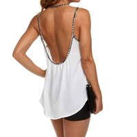 Sale- White Studded Affair Cami Top