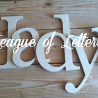 6 inch Wooden Letters
