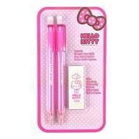 Sanrio Hello Kitty Eco Friendly School Stationary Gift Set : Lead Pencil and Eraser $5.99
