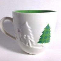 Starbucks 2006 Christmas Holiday Scene Embossed Coffee Mug