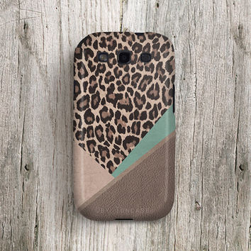 Leopard Samsung galaxy s3 case winter samsung galaxy note 2 case Leopard samsung galaxy s4 case geometric galaxy s3 case leather print c275