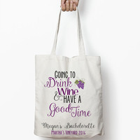 Bachelorette Tote Bag // Wedding Favors, Bachelorette Party Favors, Wedding Tote Bag, Bachelorette Weekend, Hangover Kit, Martha's Vineyard