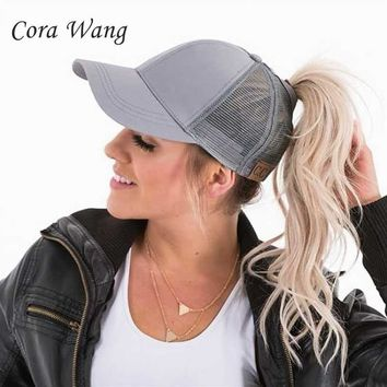 Trendy Winter Jacket Cora Wang Hot Boble Spirit Snapback Hats Baseball Cap for Men Mesh Hat Summer Beach Style Letter unisex bone casquette homme tou AT_92_12