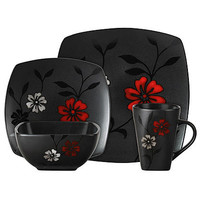 Gibson 16 pc. Evening Blossom Dinnerware Set - Home - Dining & Entertaining - Tableware - Dinnerware Sets & Collections