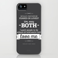 The Office Michael Scott Quote Season 2 Episode 6 - Every of the Time - Grey and White iPhone & iPod Case by Noonday Design