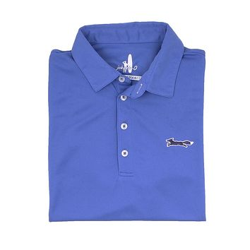 The Longshanks Fairway Prep-Formance Polo in Royal by Johnnie-O