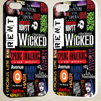 Broadway Musical Collage F0055 iPhone 4S 5S 5C 6 6Plus, iPod 4 5, LG G2 G3, Sony Z2 Case