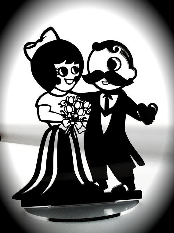Natty Boh Amp Utz Girl Cake Topper Black From Bungalowglow On