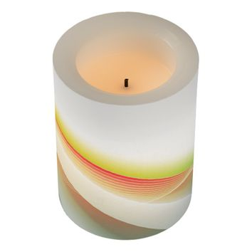 Abstract Swirl 2 Flameless Candle