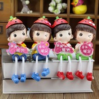 Home Decoration Gifts Couple Dolls Home Decor [6034227713]