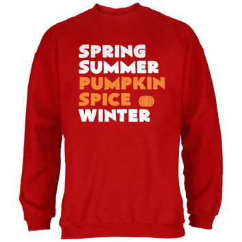 Spring Summer Pumpkin Spice Red Adult Sweatshirt
