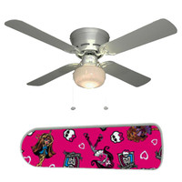 "Monster High 42"" Ceiling Fan and Lamp"