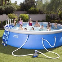 18 x 48 Above-Ground Easy Setup Outdoor Swimming Pool Set w Ladder & Filter