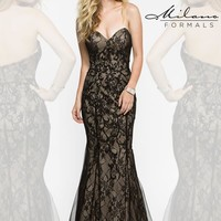 Long Lace Milano Formals Dress E1904