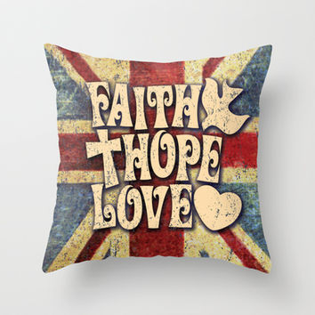 Shop Faith Hope Love Pillows On Wanelo