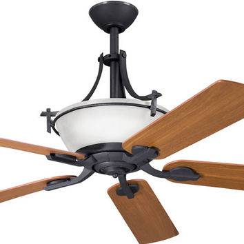"0-049008>60"" Olympia Ceiling Fan Distressed Black"