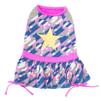 Top Paw® Geo Star Dog Dress