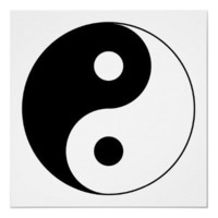 Yin Yang Symbol Posters from Zazzle.com