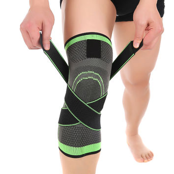 Professional 3D Weaving Pressurization Knee Brace  Basketball Tennis Hiking Cycling Knee Support
