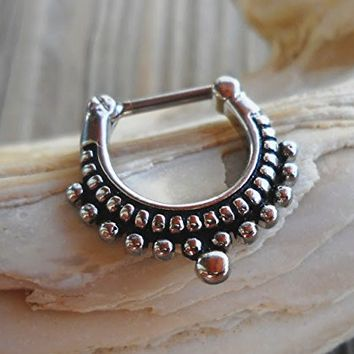 Septum Tribal Clicker Nose Ear Ring