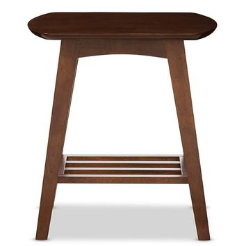 Baxton Studio Sacramento Mid-century Modern Scandinavian Style Dark Walnut End Table   Set of 1