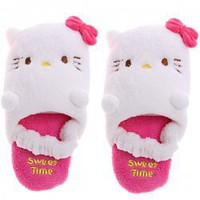 Cartoon Hello Kitty Pattern Winter Keeping Warm Mini Plush Room Slippers for Kids Hot Sale At Wholesale Price - Gadgetsdealer.com