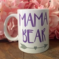 Mama Bear Coffee Mug, Wine glass, Mothers Day Mug, Gifts for Mom