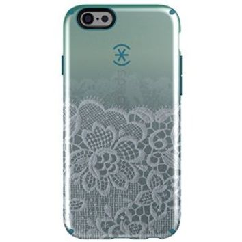 Speck Products Luxury Edition Inked Case for iPhone 6/6s - Retail Packaging - Scalloped Lace Teal/Blue