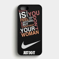 Nike Just Do It Glitter Basket Ball iPhone SE Case