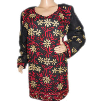 Kurti top shirt for women fashions embroidered dress Black Friday Sale Indian ethnic hippie plus size clothes