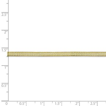 3mm 10k Yellow Gold Solid Herringbone Chain Necklace