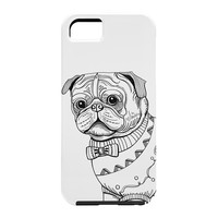 Pimlada Phuapradit pug line art Cell Phone Case
