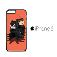 Batman And Catwoman Funny Face Z0381 iPhone 6 Case