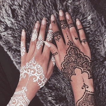 Natural Herbal Henna Cones Temporary Tattoo kit Body Art Mehandi ink Natural