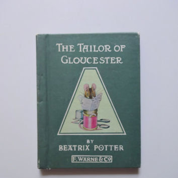 Vintage The Tailor of Gloucester Miniature Book 1931