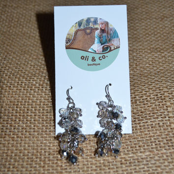 Clustered Crystal Earrings