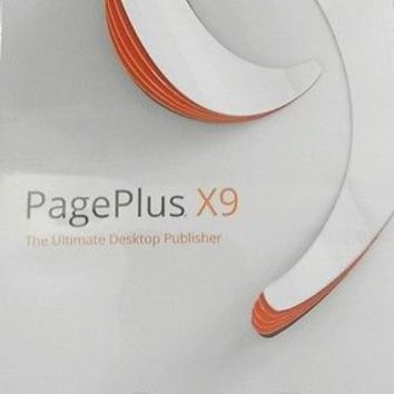 Serif PagePlus X9 with both quick start and full user guides included